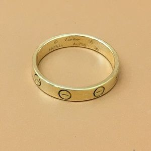 Cartier Rose Gold 18k 750 Love Band Ring Size 55